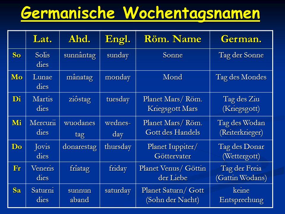 Germanische Wochentagsnamen