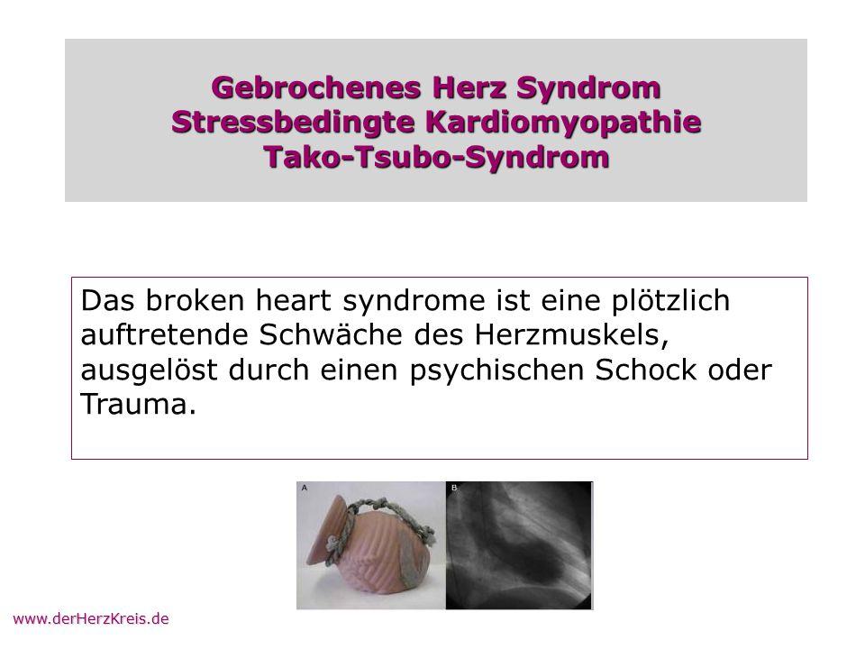 Gebrochenes Herz Syndrom Stressbedingte Kardiomyopathie Tako-Tsubo-Syndrom