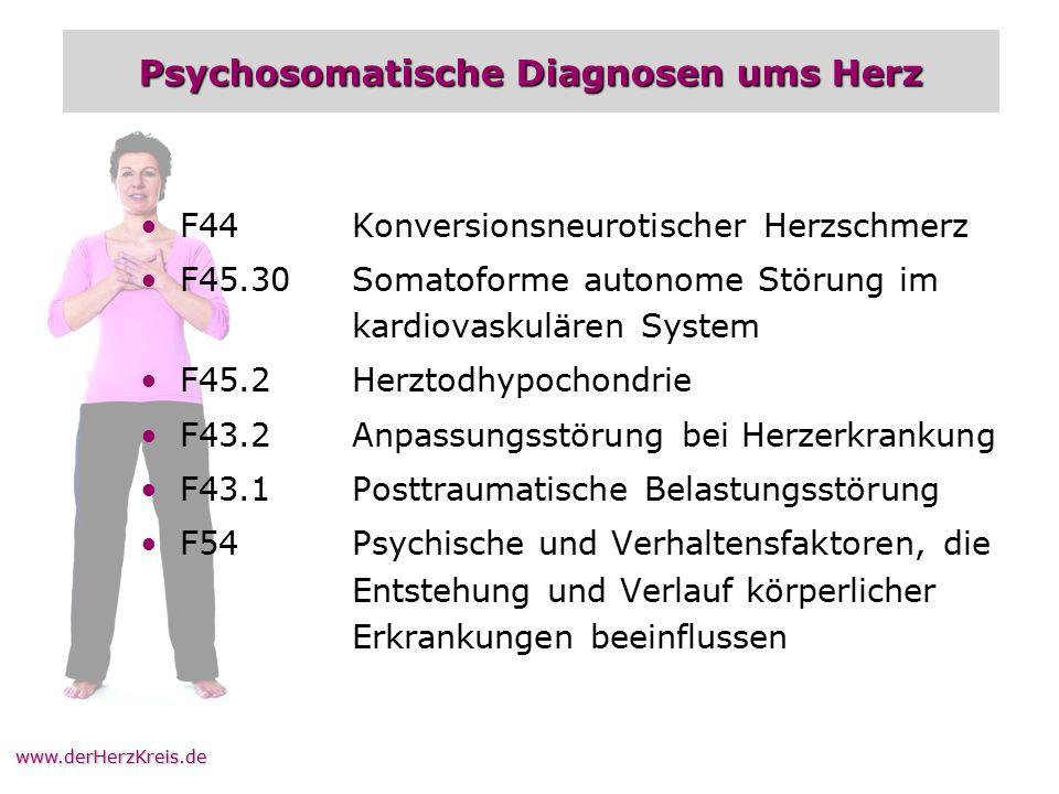 Psychosomatische Diagnosen ums Herz