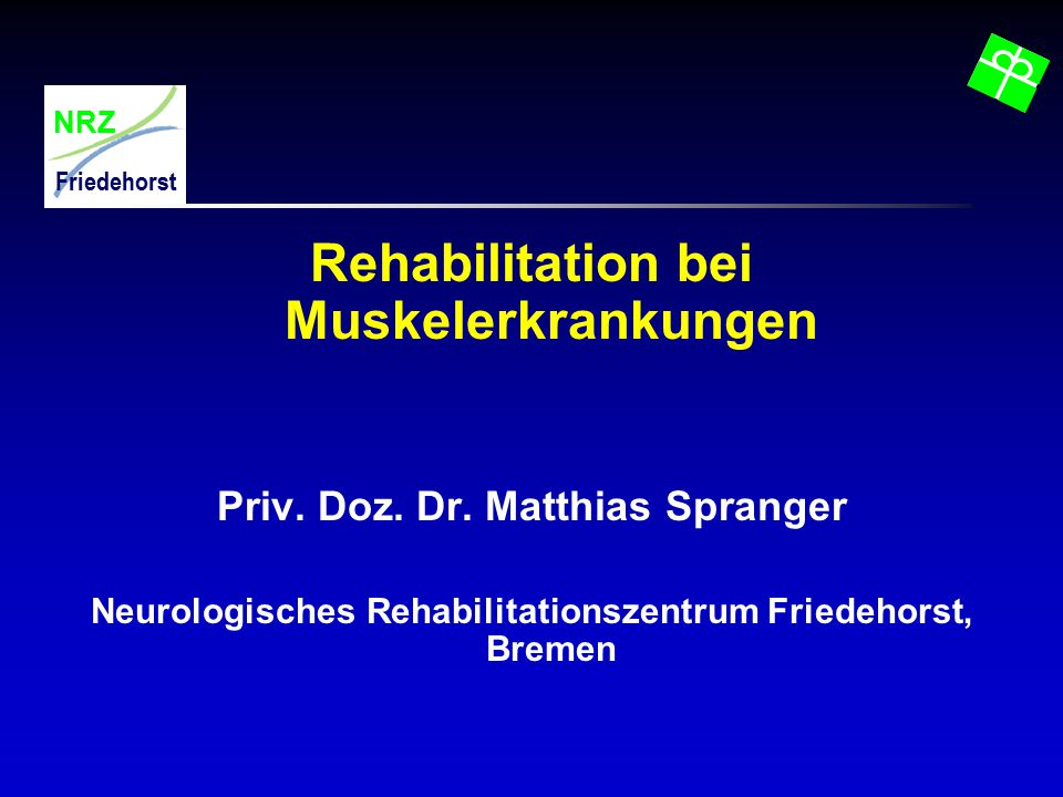 Rehabilitation bei Muskelerkrankungen