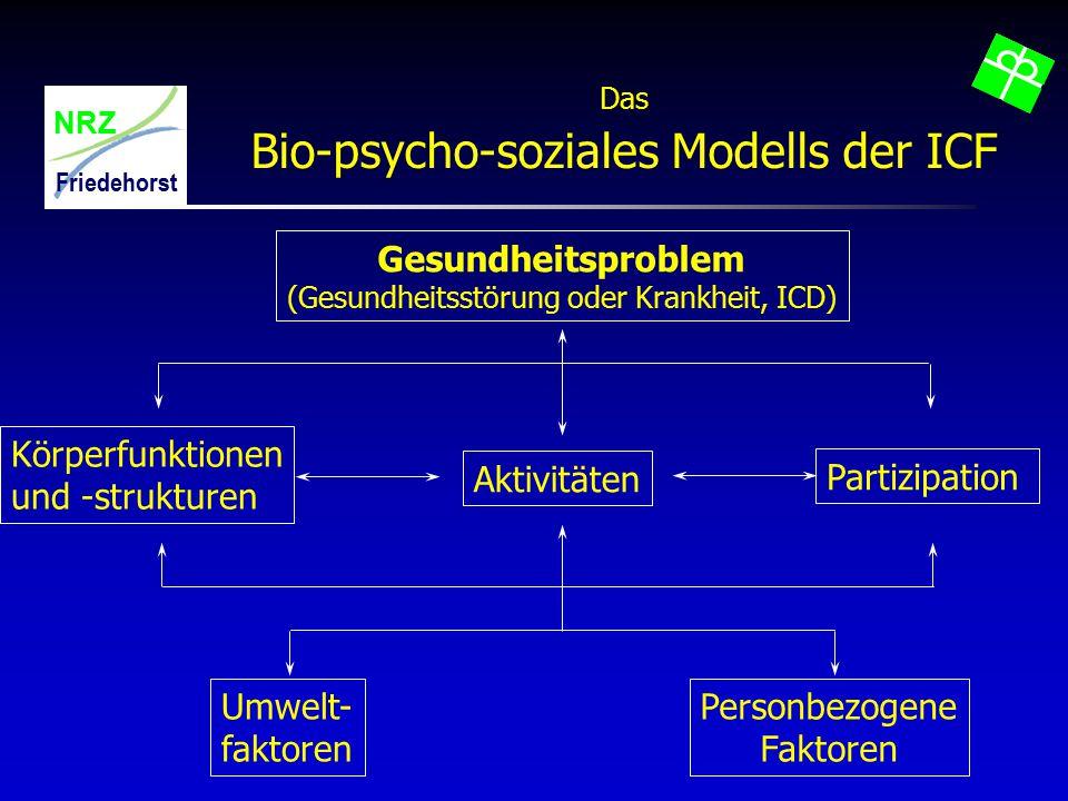 Bio-psycho-soziales Modells der ICF