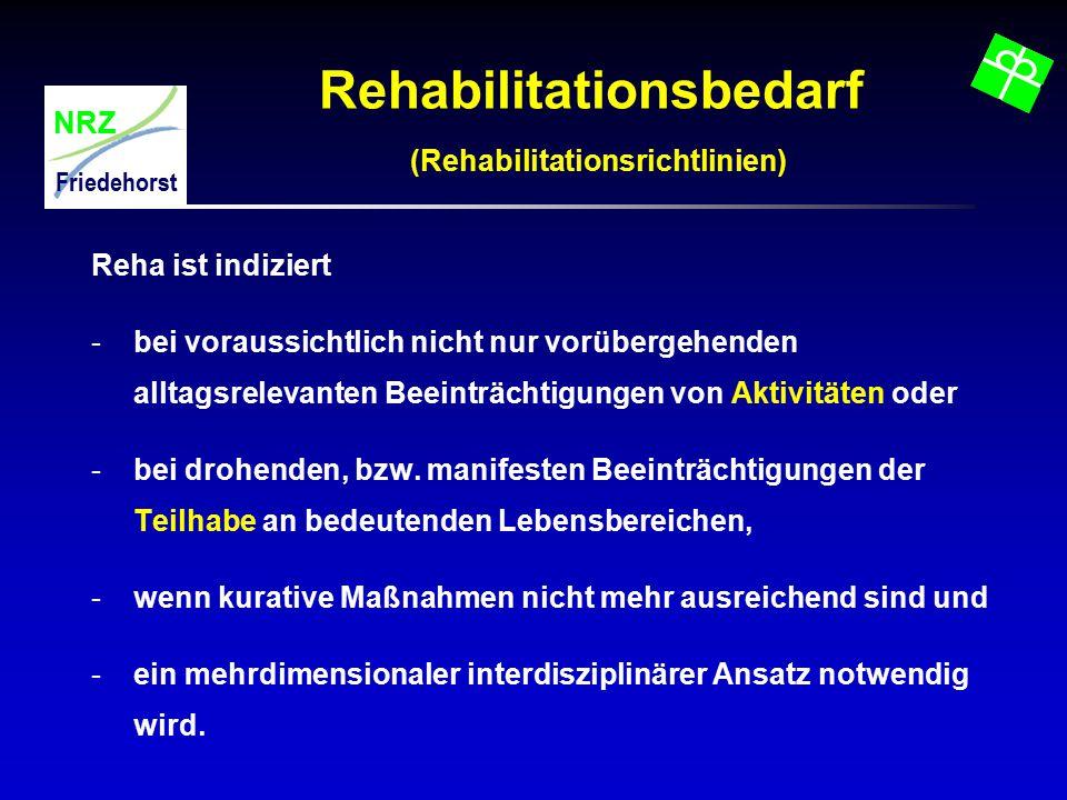 Rehabilitationsbedarf (Rehabilitationsrichtlinien)