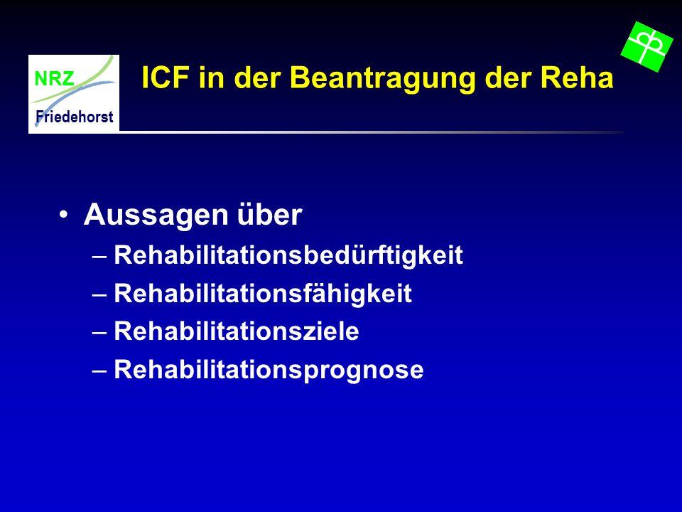 ICF in der Beantragung der Reha