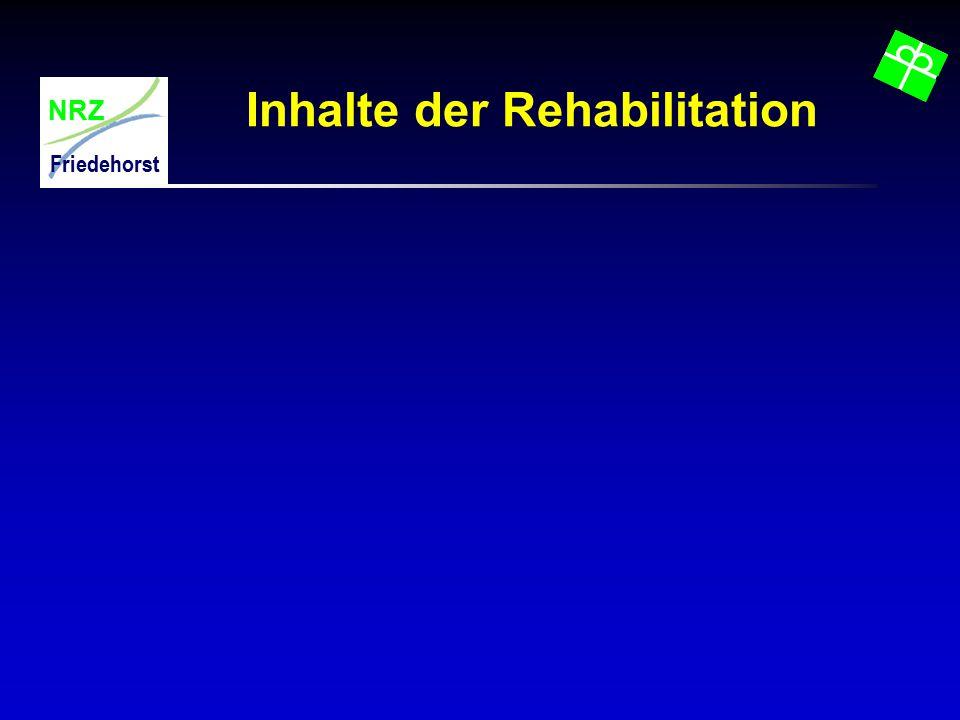 Inhalte der Rehabilitation