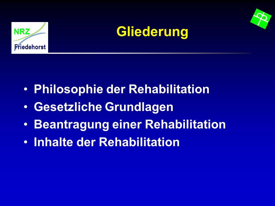 Gliederung Philosophie der Rehabilitation Gesetzliche Grundlagen