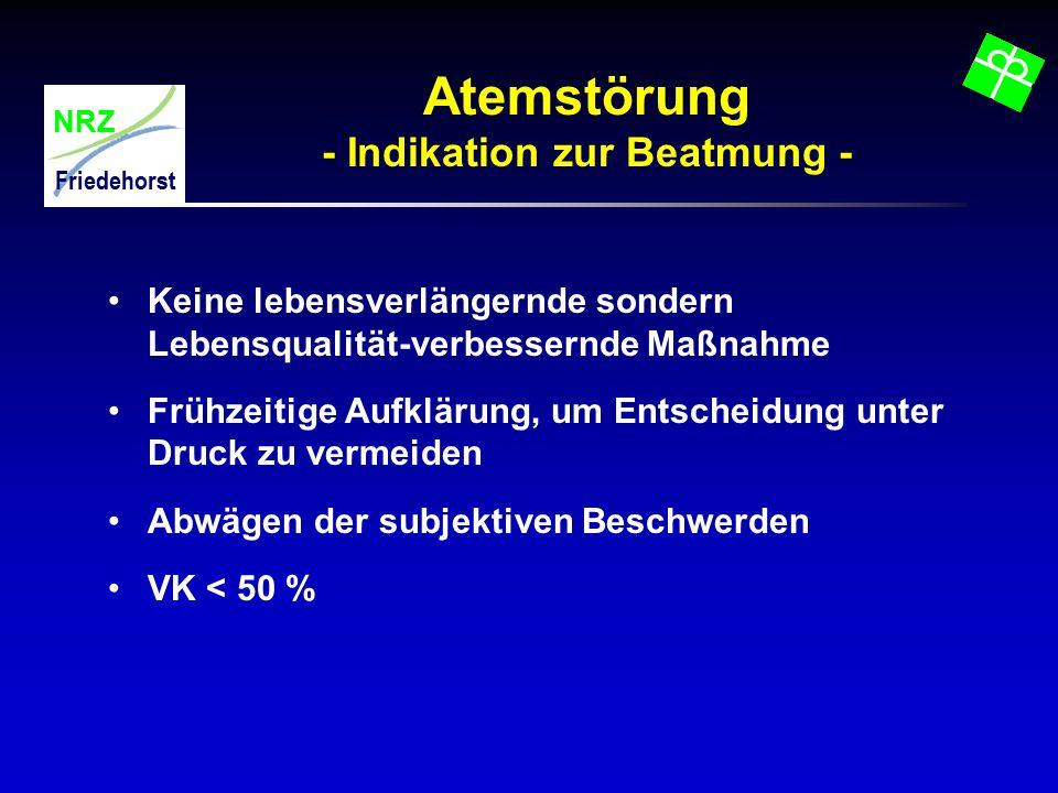 Atemstörung - Indikation zur Beatmung -