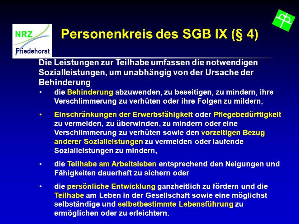 Personenkreis des SGB IX (§ 4)