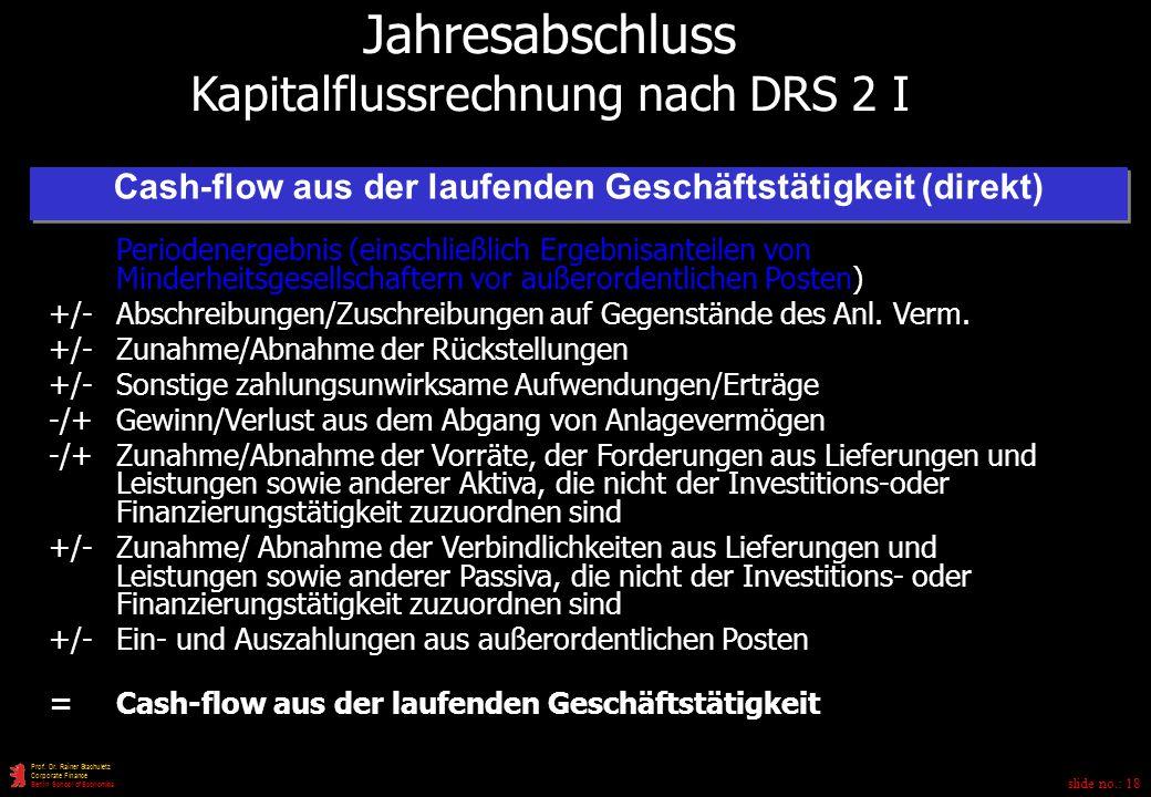 Cash-flow aus der laufenden Geschäftstätigkeit (direkt)