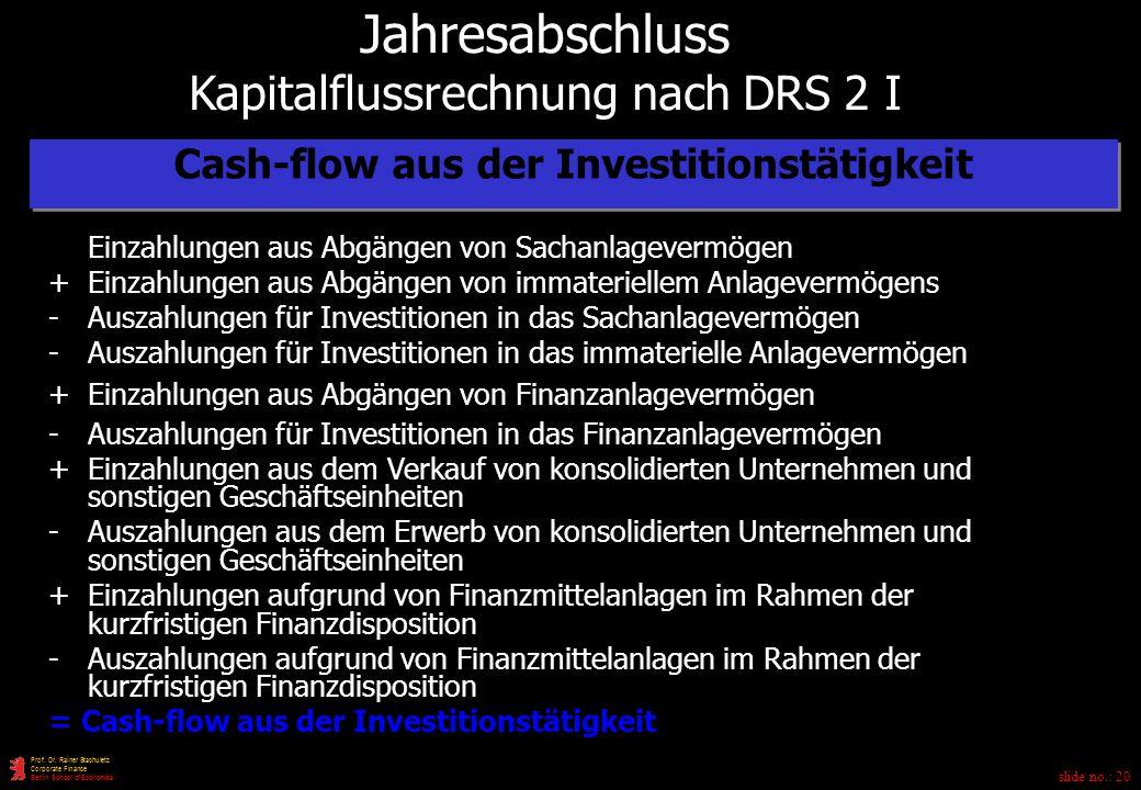Cash-flow aus der Investitionstätigkeit