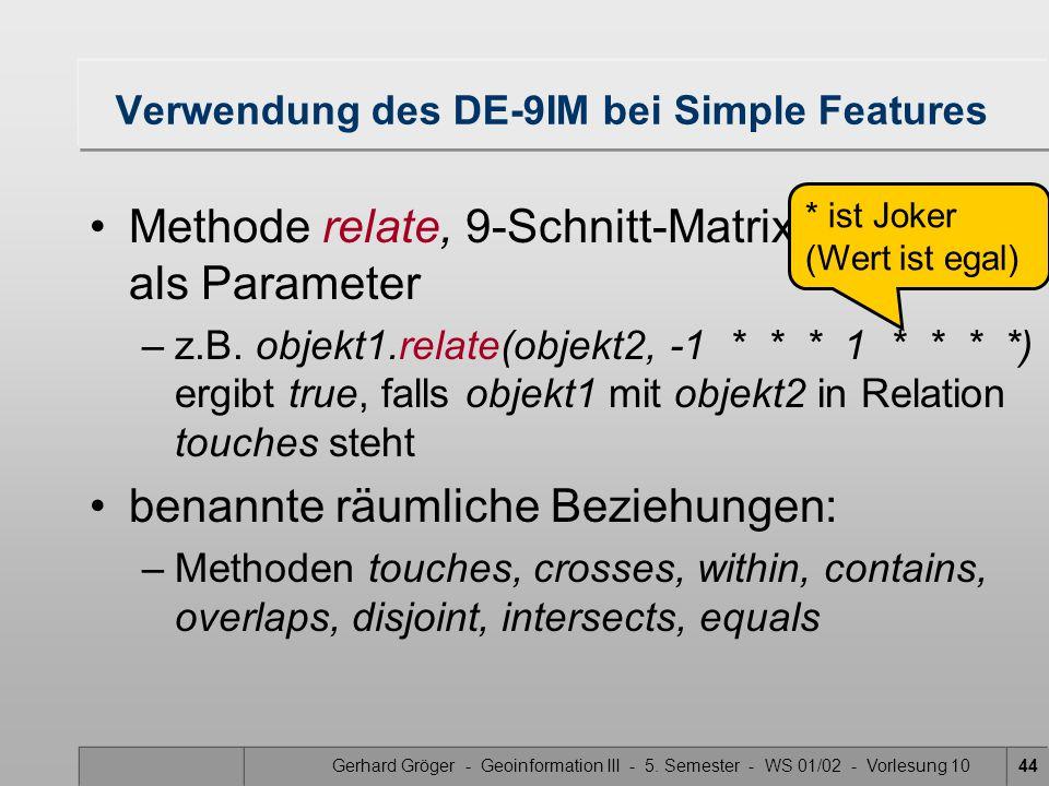 Verwendung des DE-9IM bei Simple Features