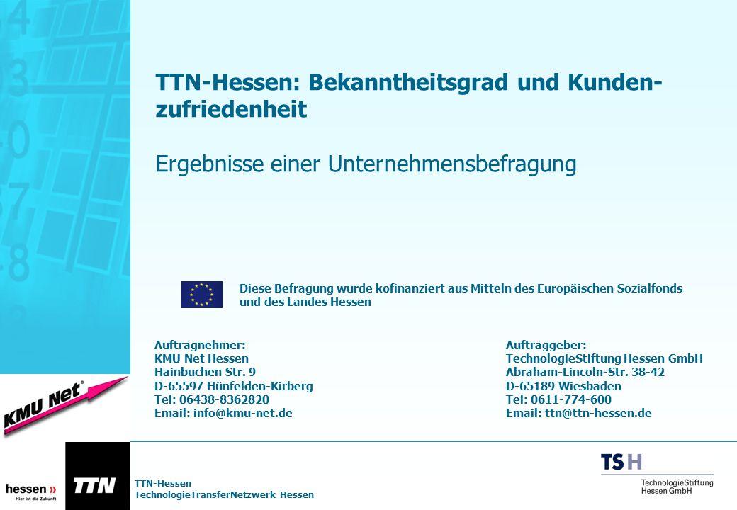 TTN-Hessen: Bekanntheitsgrad und Kunden-zufriedenheit