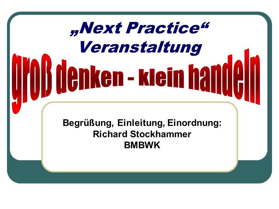 """""""Next Practice Veranstaltung"""