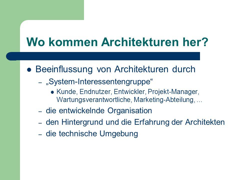 Wo kommen Architekturen her