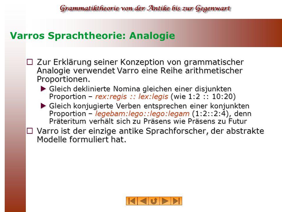 Varros Sprachtheorie: Analogie