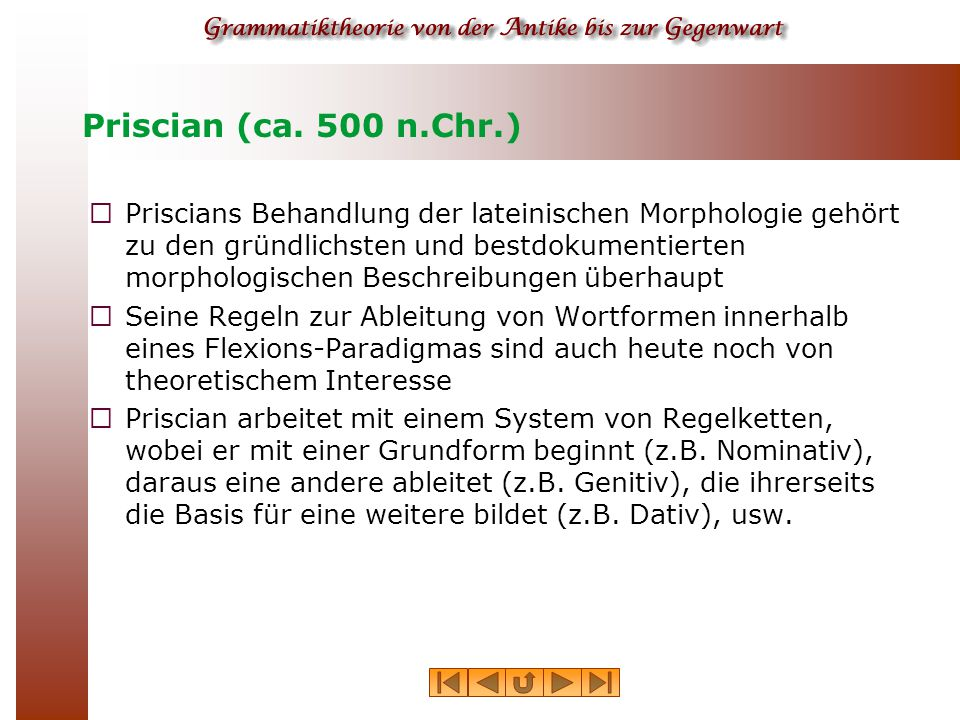 Priscian (ca. 500 n.Chr.)