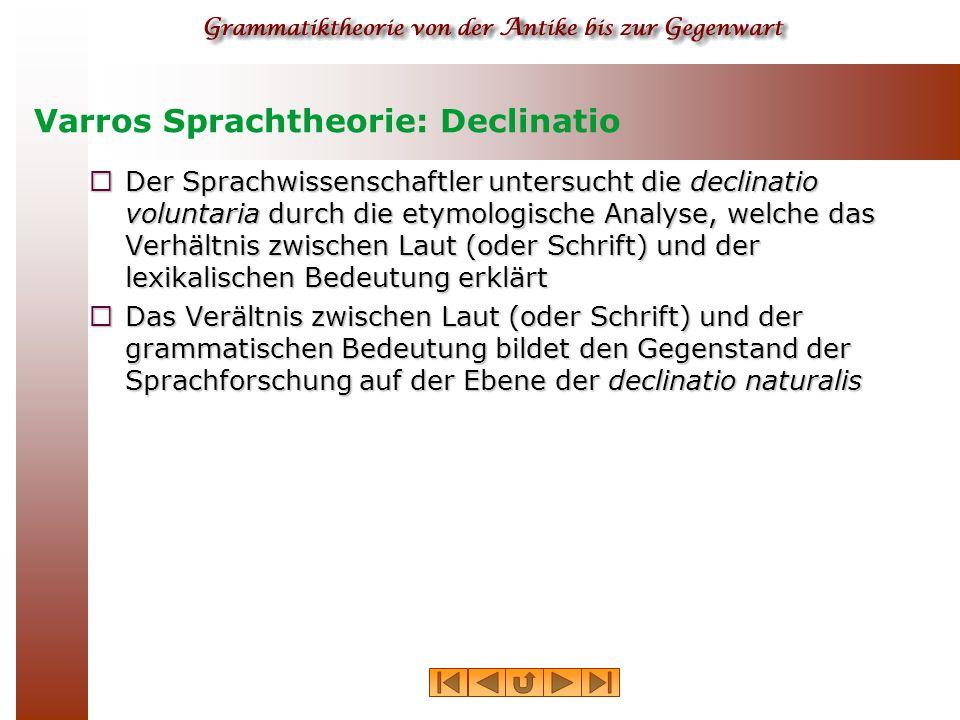 Varros Sprachtheorie: Declinatio