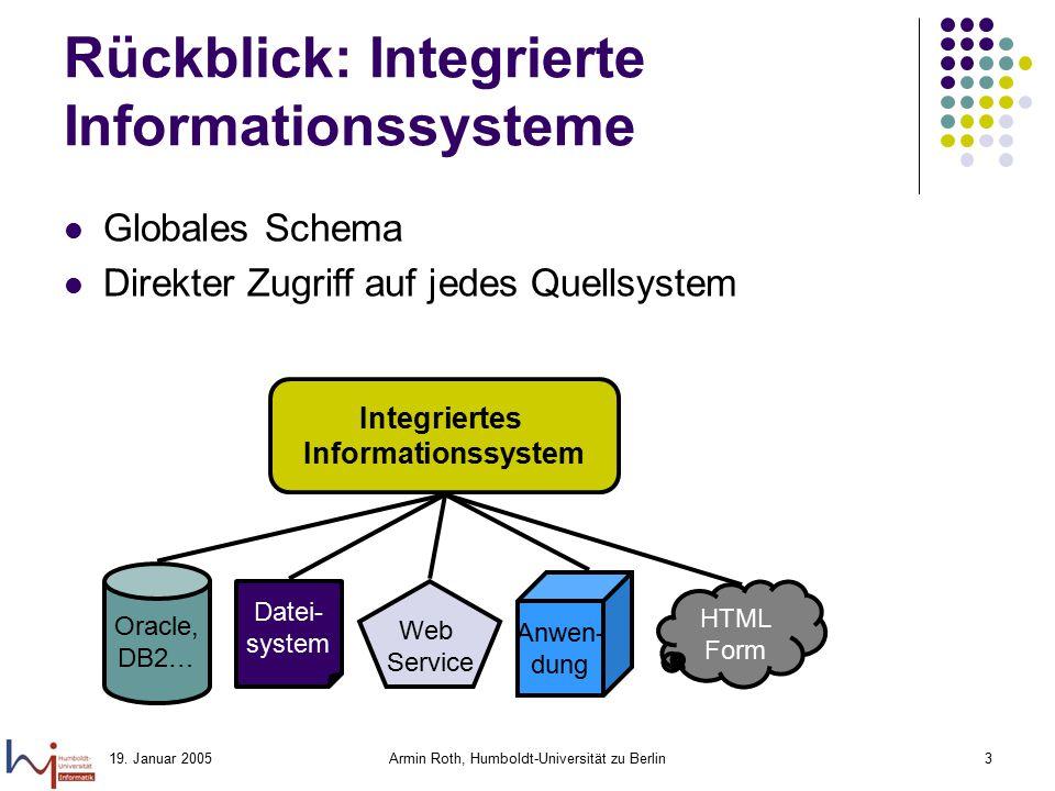 Rückblick: Integrierte Informationssysteme
