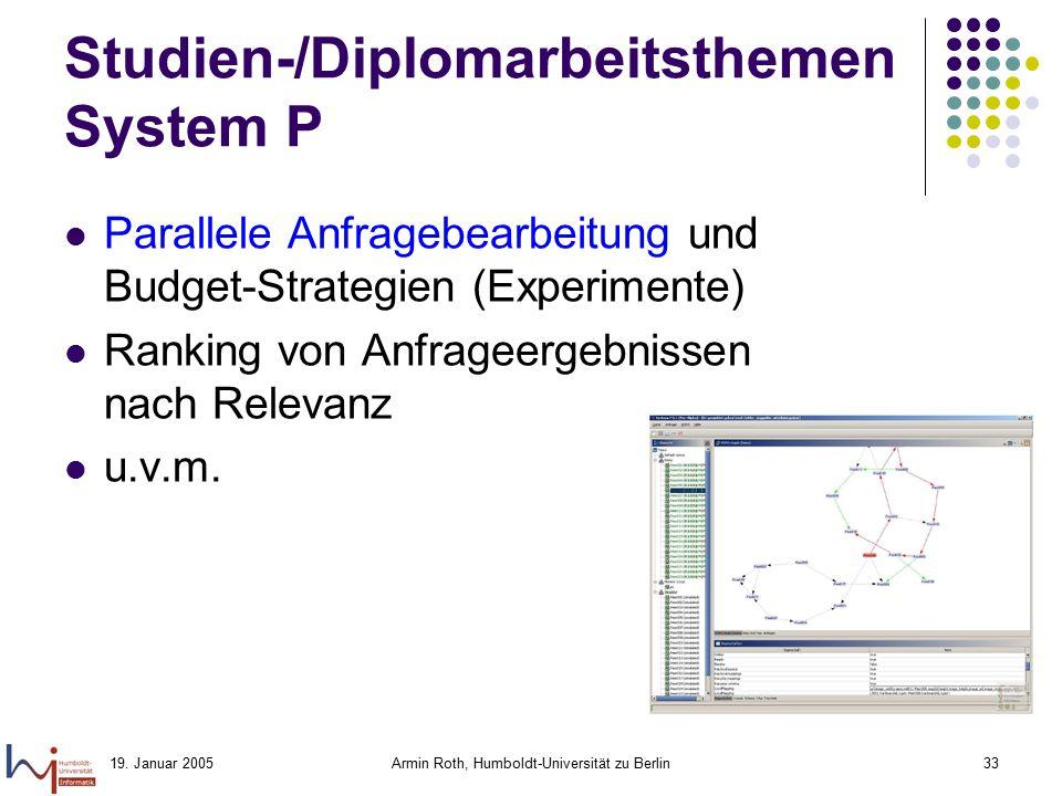 Studien-/Diplomarbeitsthemen System P