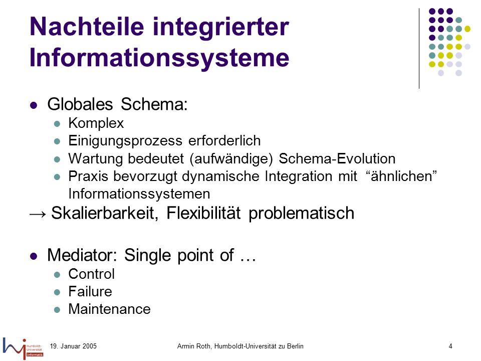 Nachteile integrierter Informationssysteme