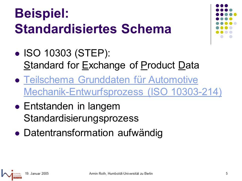 Beispiel: Standardisiertes Schema