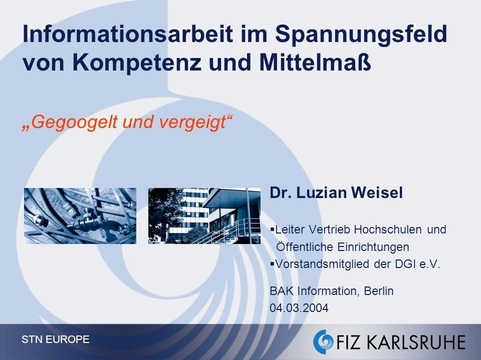 """Informationsarbeit im Spannungsfeld von Kompetenz und Mittelmaß """"Gegoogelt und vergeigt"""