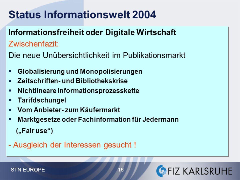 Status Informationswelt 2004