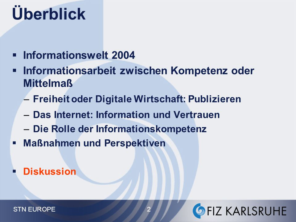 Überblick Informationswelt 2004