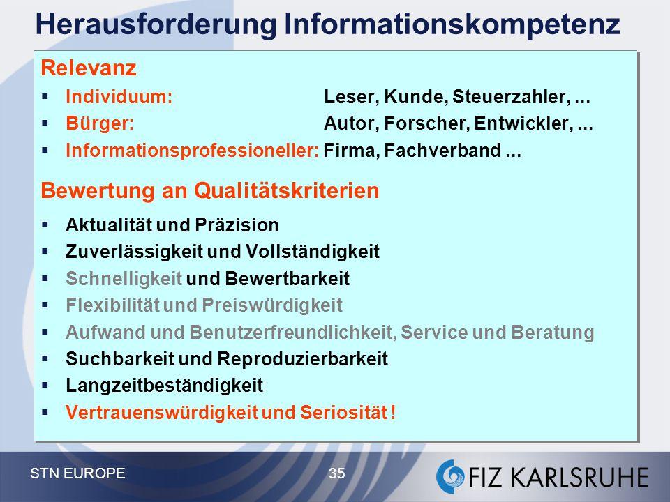 Herausforderung Informationskompetenz