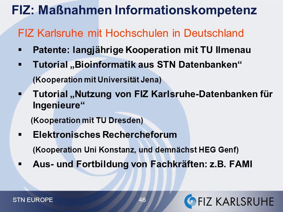 FIZ: Maßnahmen Informationskompetenz