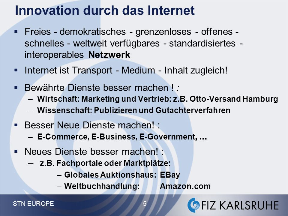 Innovation durch das Internet