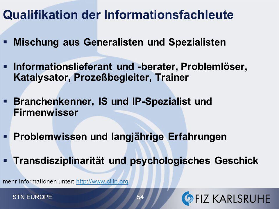Qualifikation der Informationsfachleute