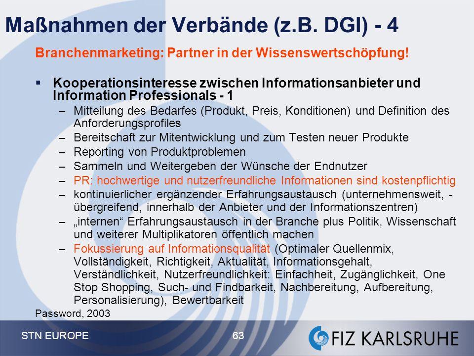 Maßnahmen der Verbände (z.B. DGI) - 4