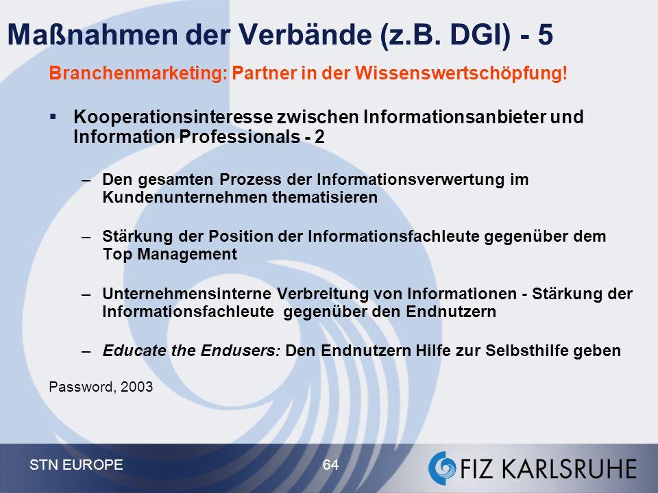 Maßnahmen der Verbände (z.B. DGI) - 5