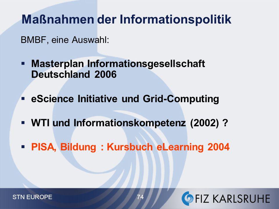 Maßnahmen der Informationspolitik