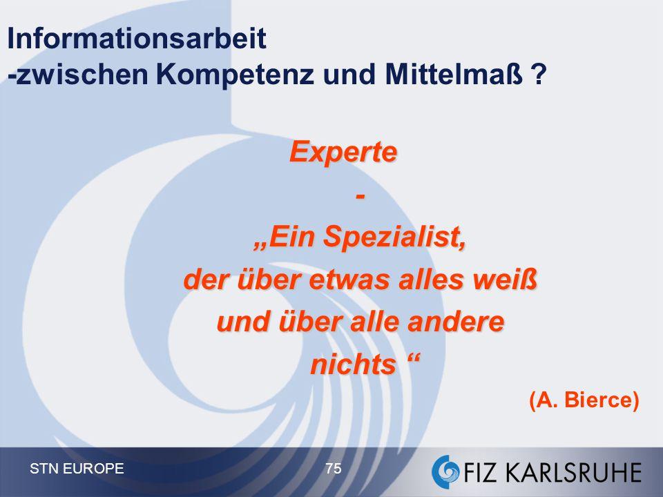 Informationsarbeit -zwischen Kompetenz und Mittelmaß