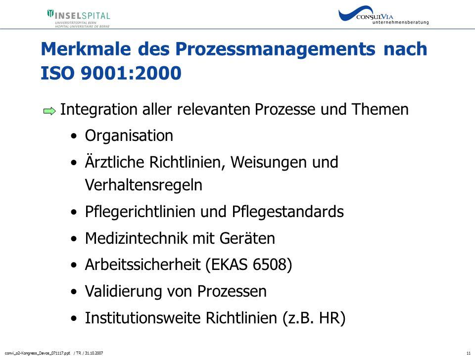 Merkmale des Prozessmanagements nach ISO 9001:2000