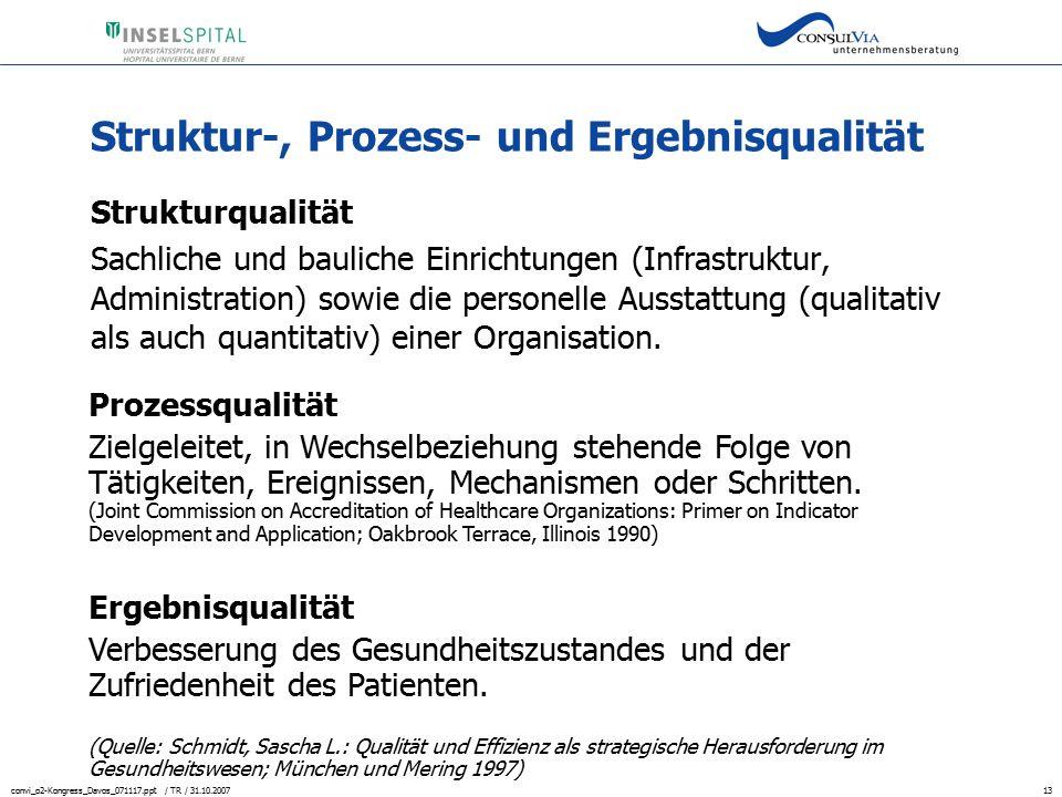 Struktur-, Prozess- und Ergebnisqualität