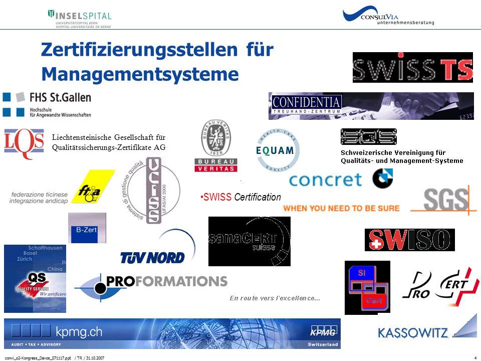 Zertifizierungsstellen für Managementsysteme