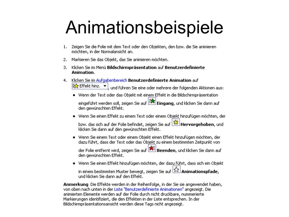 Animationsbeispiele