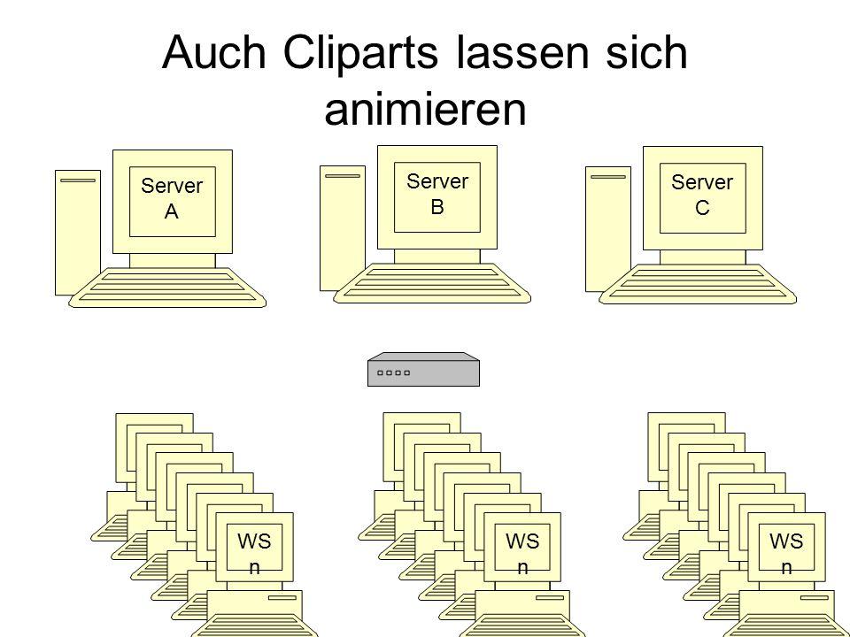 Auch Cliparts lassen sich animieren