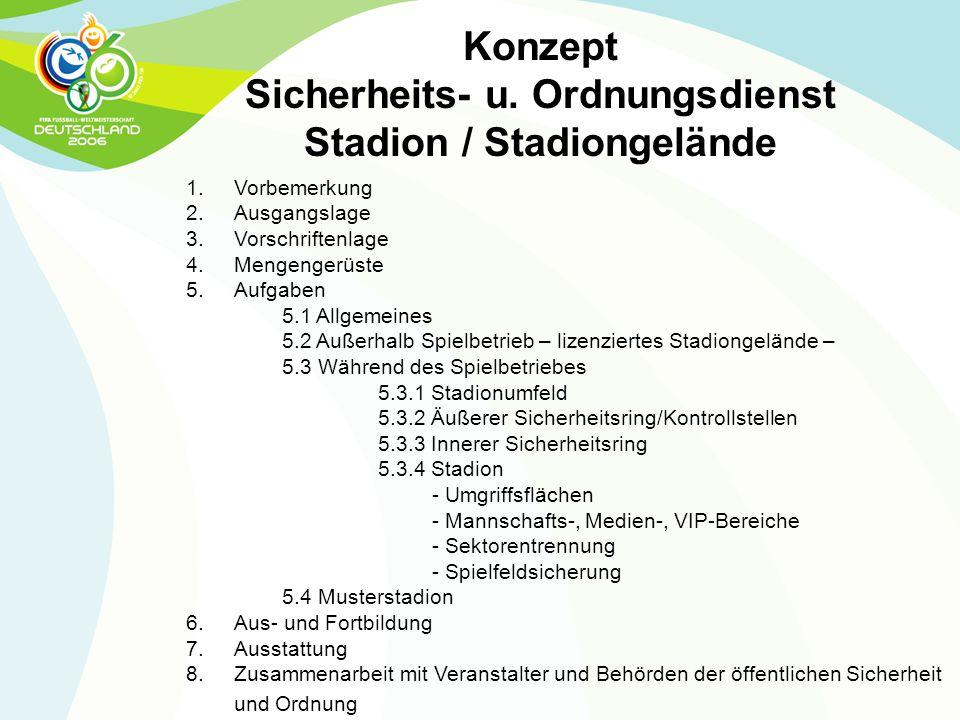 Sicherheits- u. Ordnungsdienst Stadion / Stadiongelände
