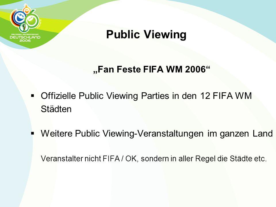 Offizielle Public Viewing Parties in den 12 FIFA WM Städten