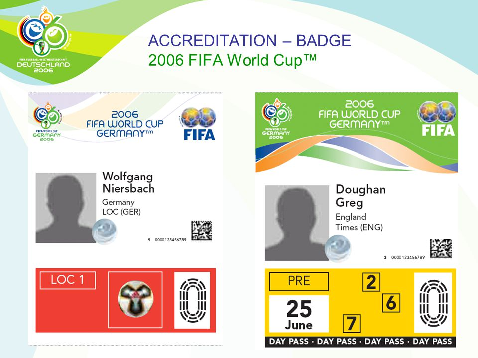 ACCREDITATION – BADGE 2006 FIFA World Cup™