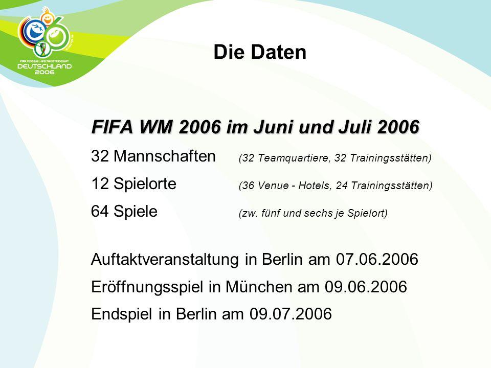 Die Daten FIFA WM 2006 im Juni und Juli 2006
