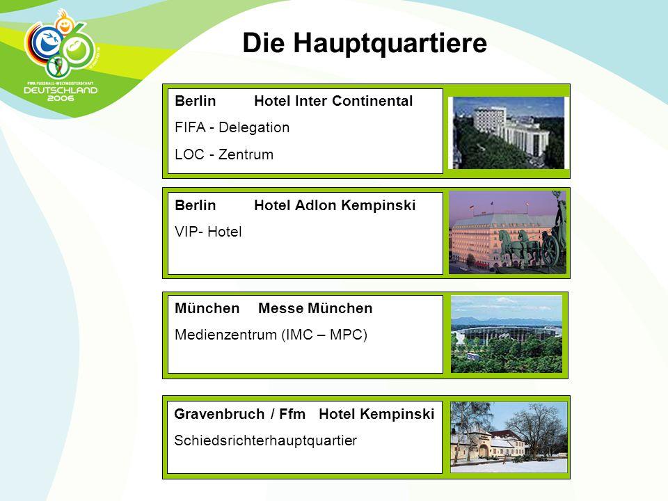 Die Hauptquartiere Berlin Hotel Inter Continental FIFA - Delegation