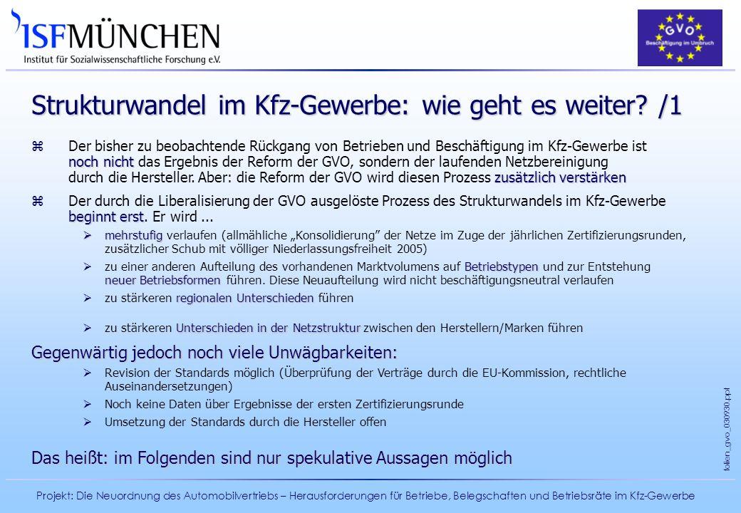 Strukturwandel im Kfz-Gewerbe: wie geht es weiter /1