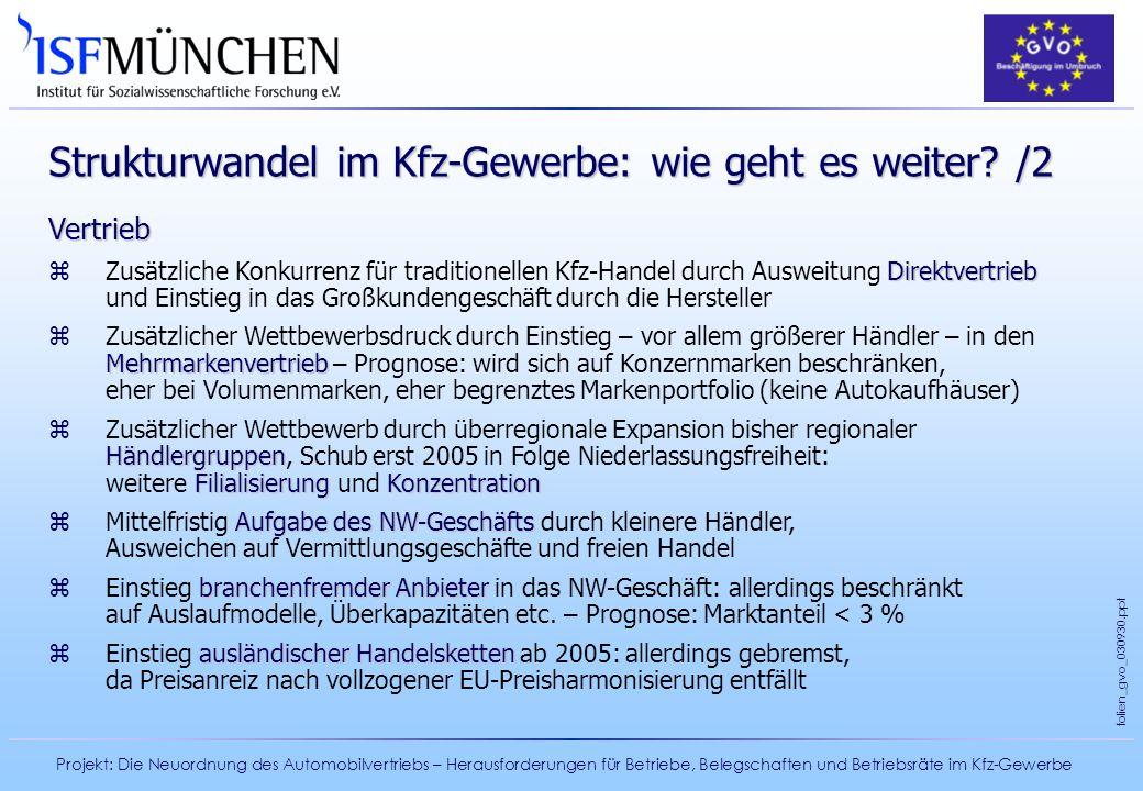 Strukturwandel im Kfz-Gewerbe: wie geht es weiter /2