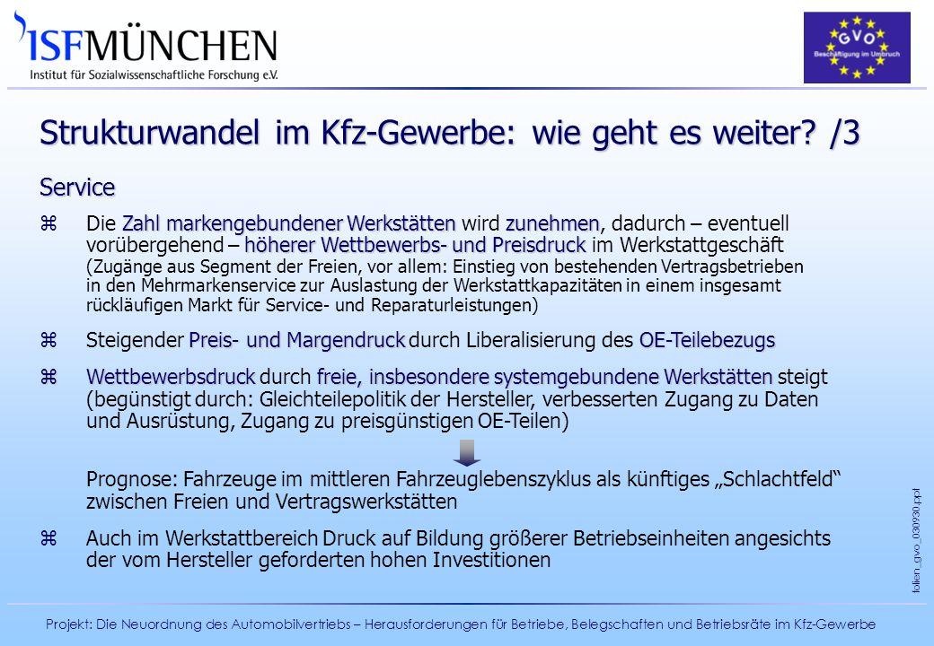 Strukturwandel im Kfz-Gewerbe: wie geht es weiter /3