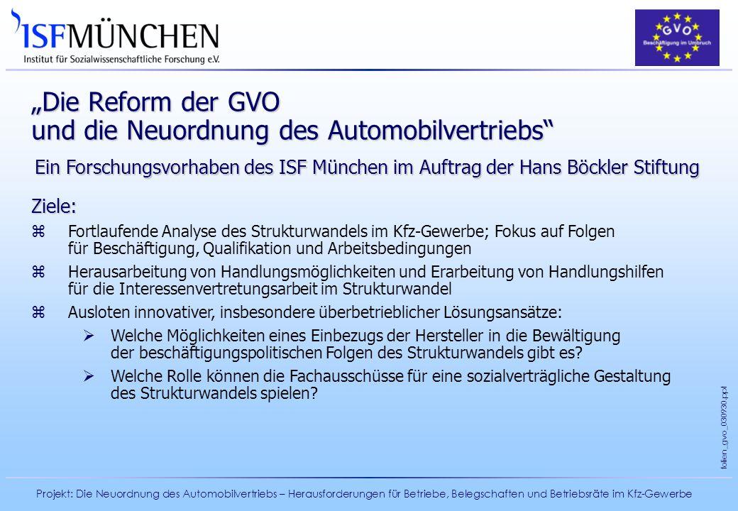 """""""Die Reform der GVO und die Neuordnung des Automobilvertriebs"""