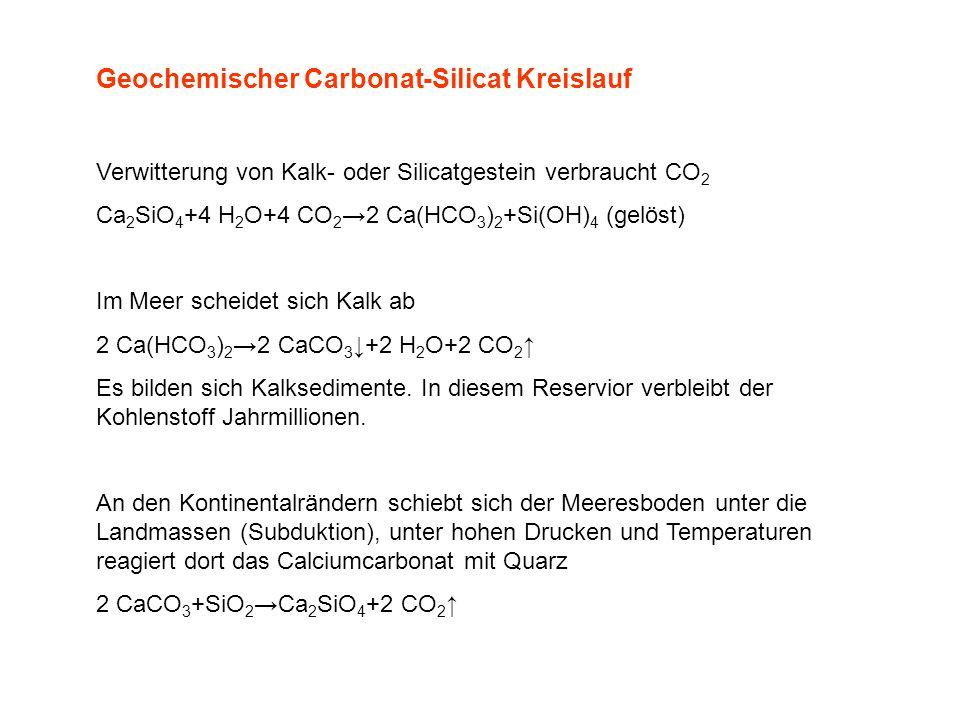 Geochemischer Carbonat-Silicat Kreislauf
